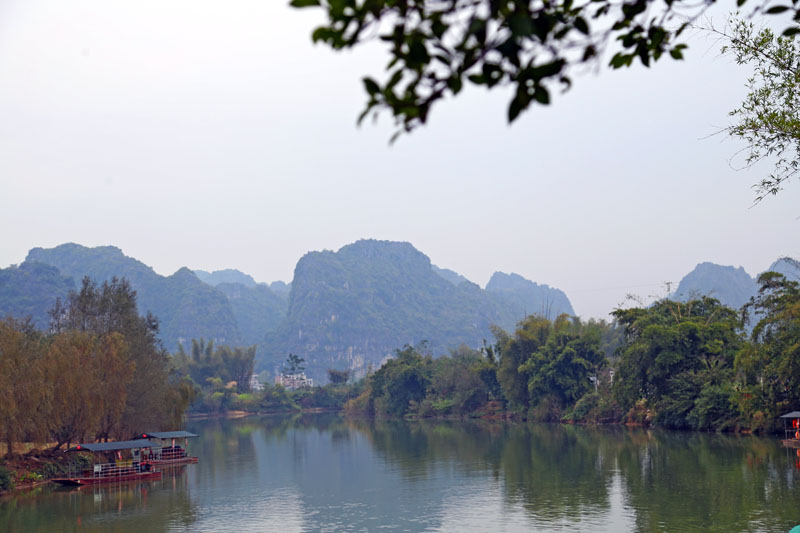 韩国美女山水风景图